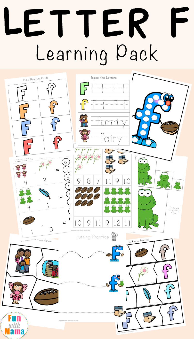 F Worksheets for Preschool Free Letter F Worksheets Fun with Mama