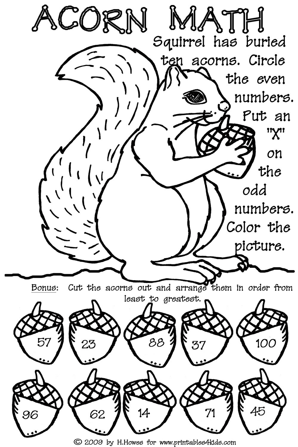 Fall Math Worksheets 2nd Grade Odd and even Double Digit Fall Math Worksheet Printables for