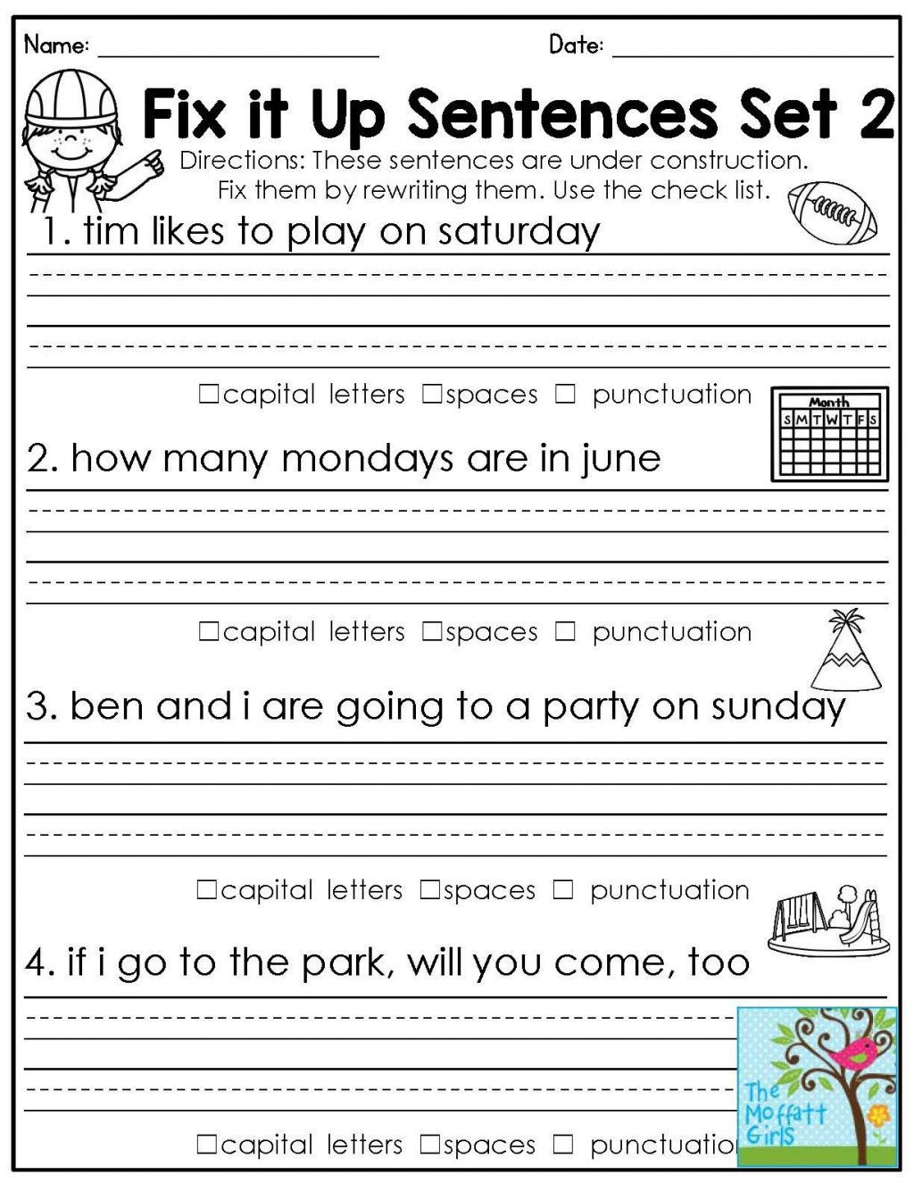 First Grade Capitalization Worksheets 4 Free Grammar Worksheets Third Grade 3 Capitalization