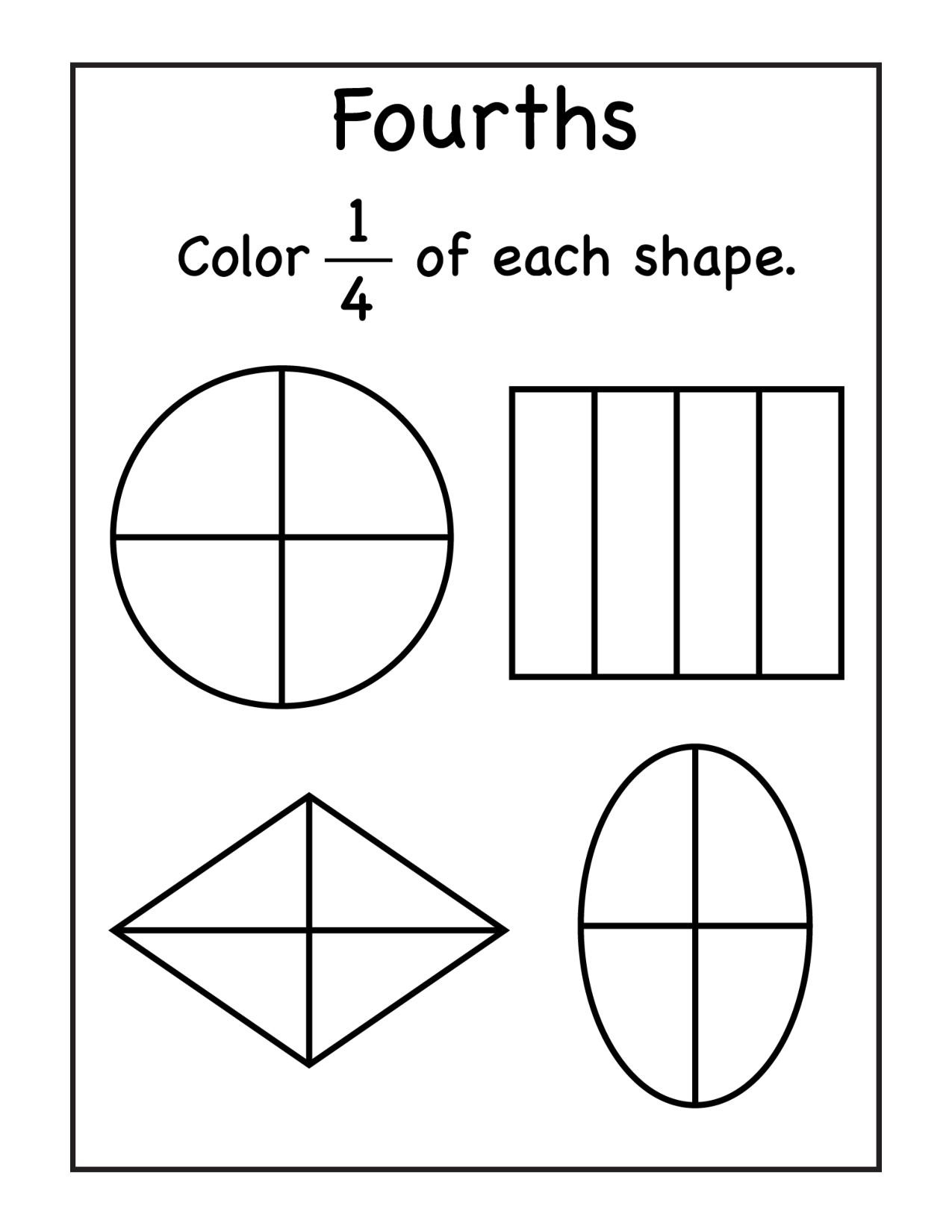 Fractions Worksheets First Grade 1st Grade Archives Page 2 Of 13