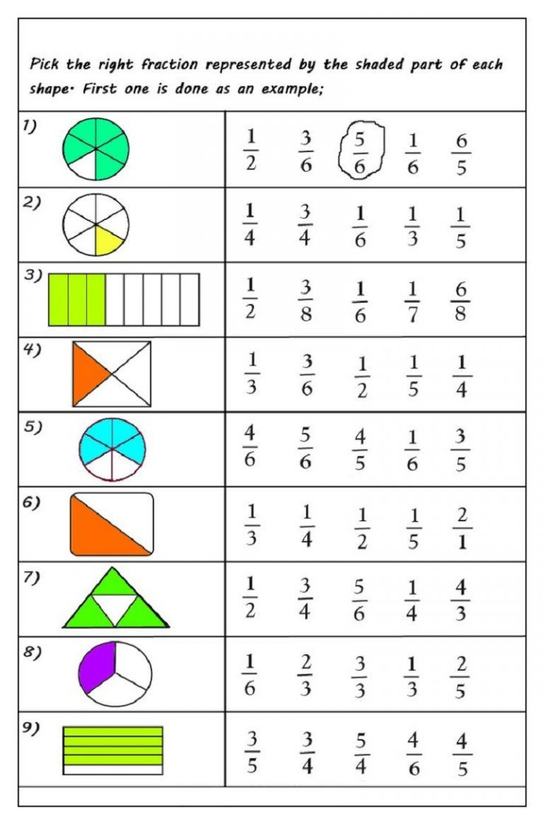 Fractions Worksheets First Grade Fractions Worksheets Multiple Choice
