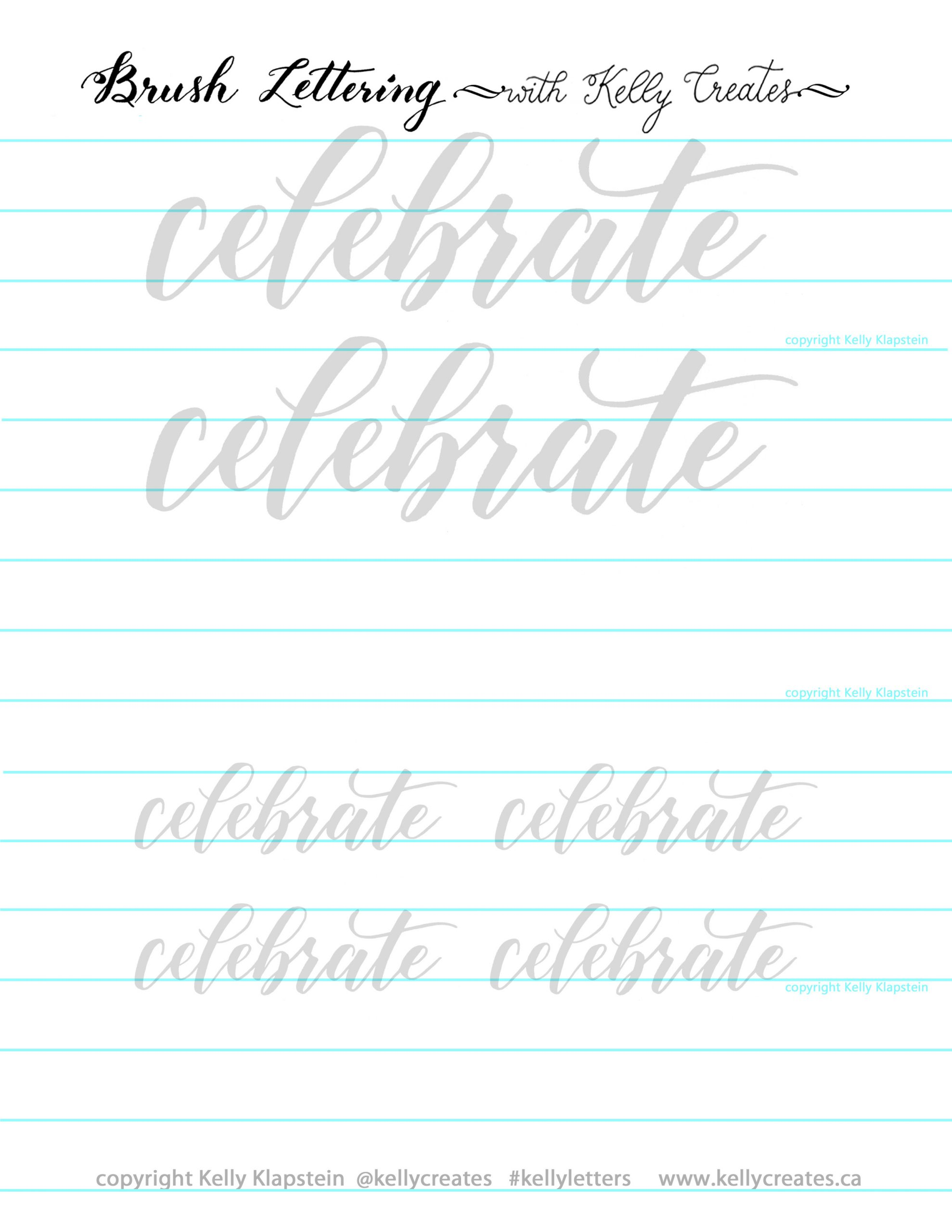 Free Calligraphy Worksheets Printable Let S Celebrate with A Free Worksheet – Kelly Creates