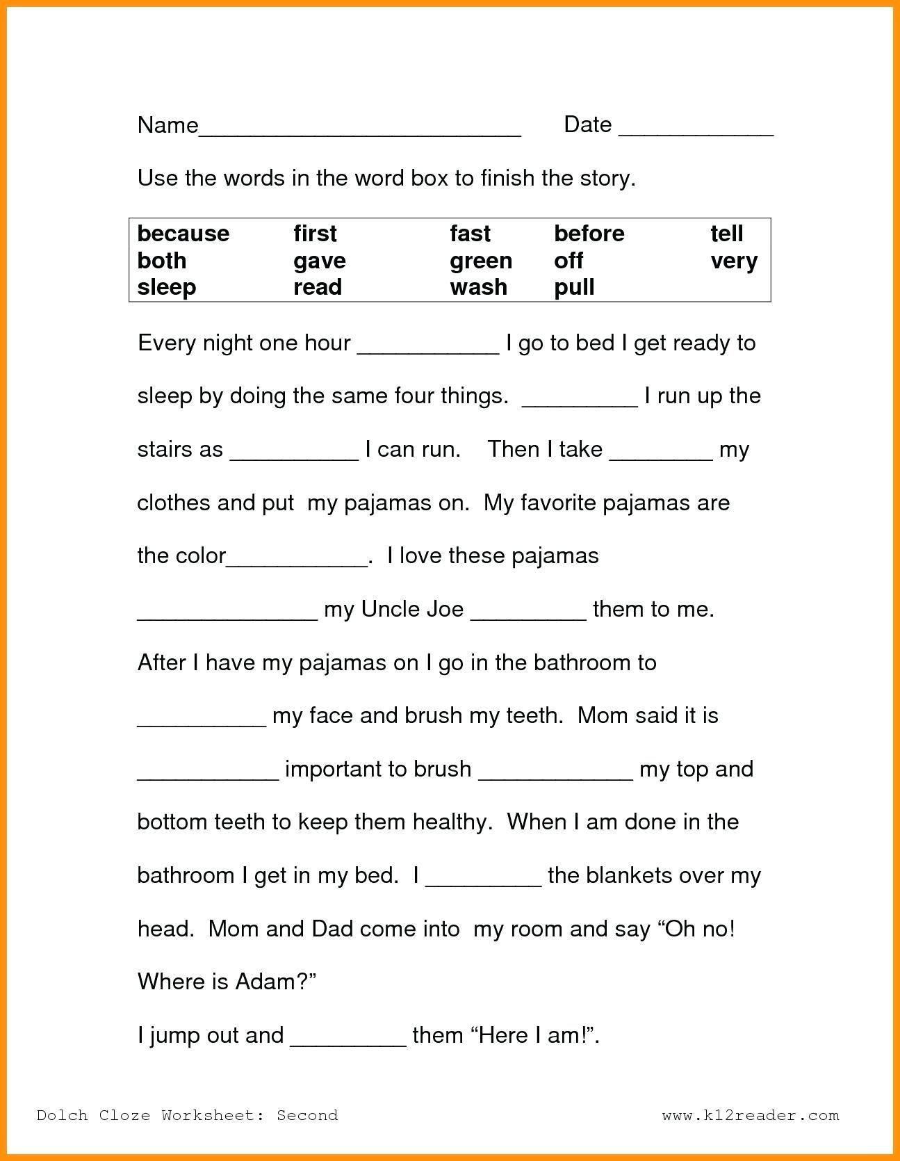 Free First Grade Reading Worksheets 9 1st Grade Reading Worksheets Free Templates