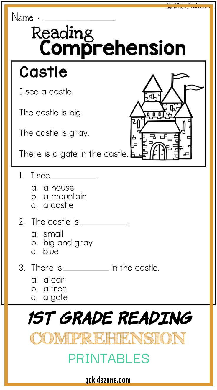 Free First Grade Reading Worksheets Math Worksheet 48 1st Grade Prehension Picture Ideas