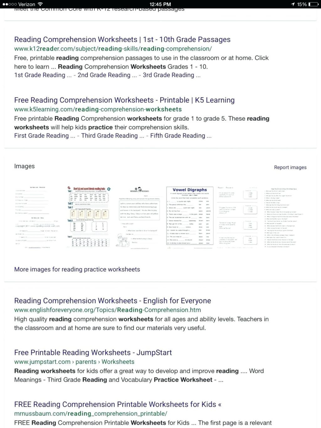Free First Grade Reading Worksheets Math Worksheet First Grade Prehensions Test Answers