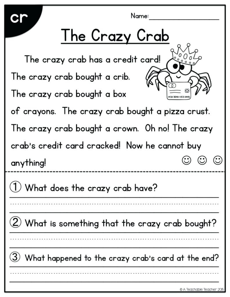 Free First Grade Reading Worksheets Math Worksheet Reading Kindergarten Grade Worksheets First