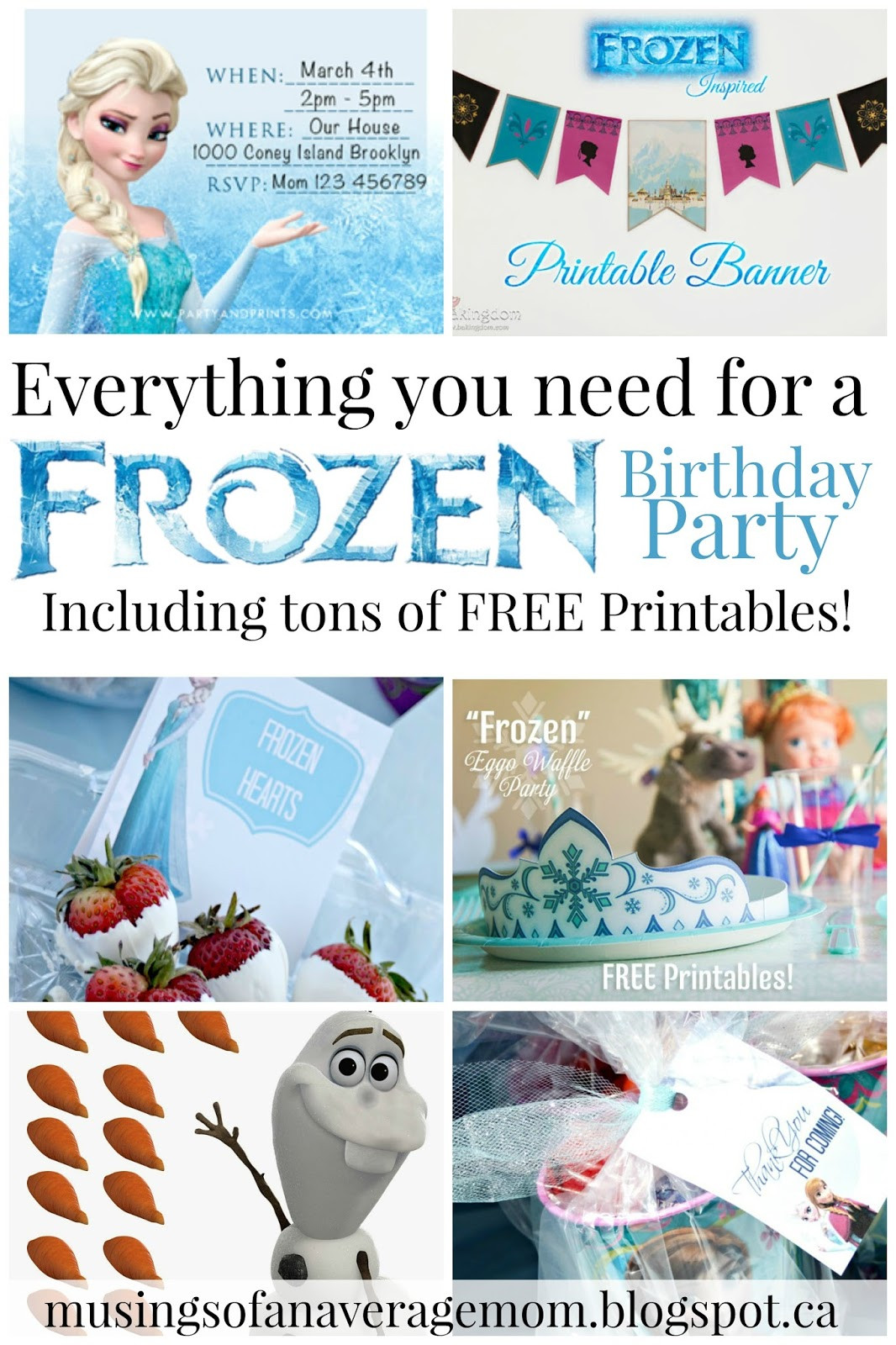 Free Frozen Invitations Printable Musings Of An Average Mom Free Frozen Party Printables