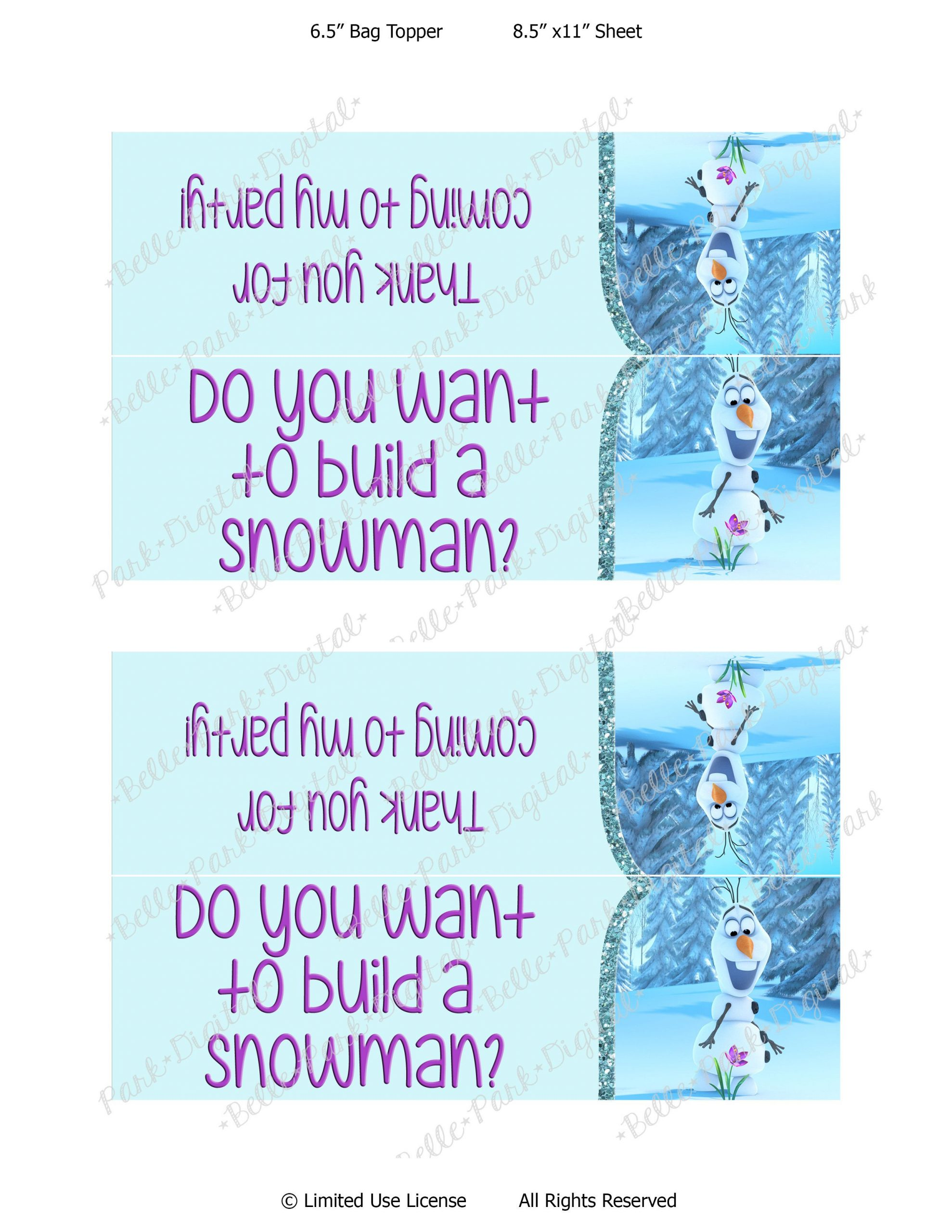 Free Frozen Invitations Printable Olaf Template Printable