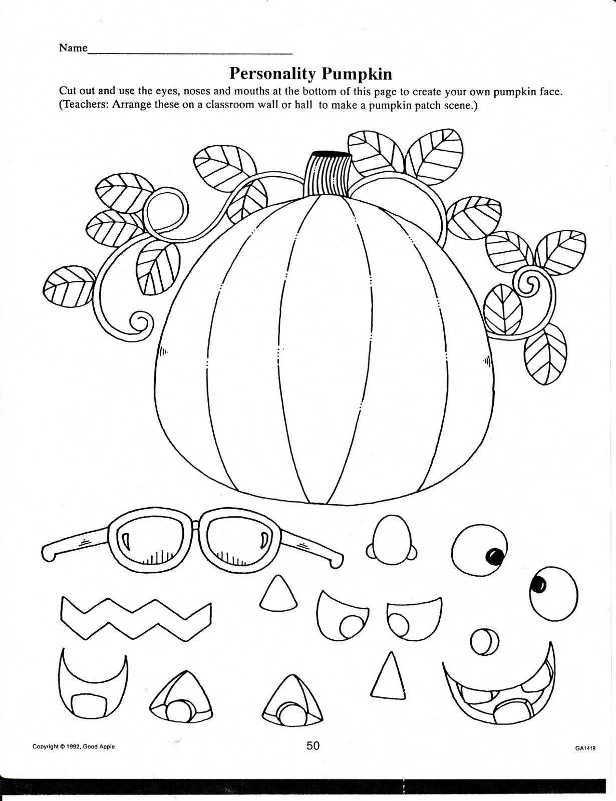 Free Kindergarten Halloween Worksheets Printable 7 Best Of Free Fall Printables for Students First