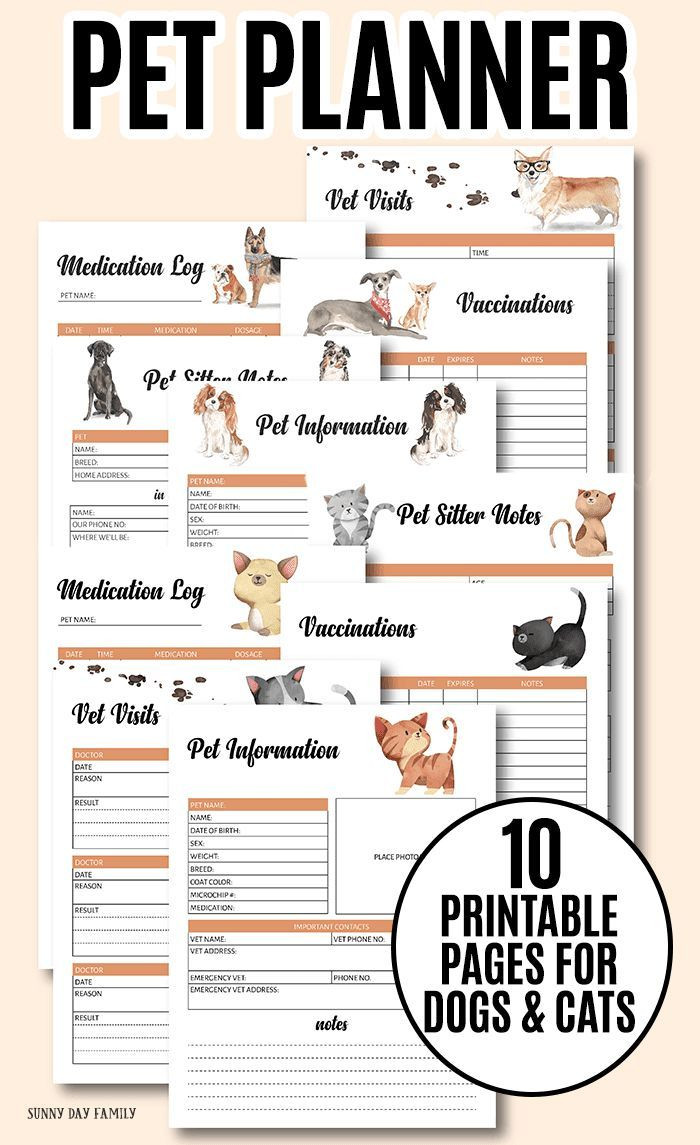 Free Printable Dog Training Worksheets the Printable Pet Binder You Need to organize Your Pet