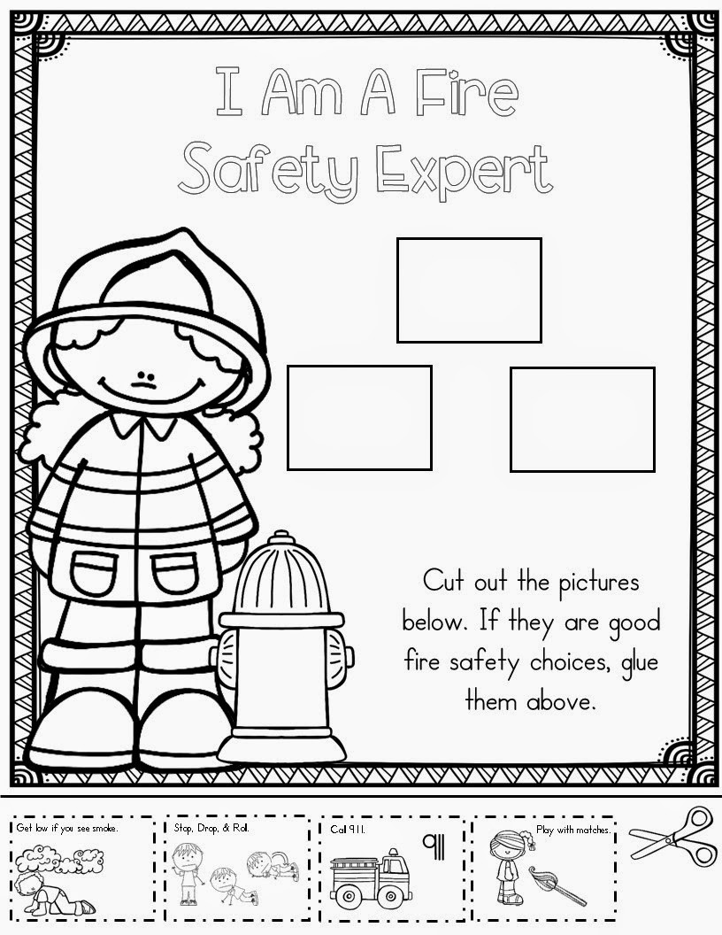 Free Printable Fire Safety Worksheets Fire Safety Lessons Tes Teach