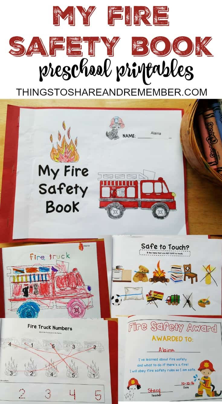 Free Printable Fire Safety Worksheets Preschool Fire Safety Booklet Printables