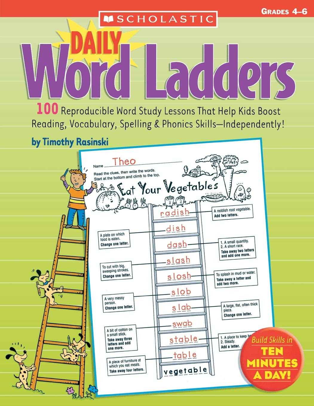 Free Printable Word Ladders Amazon Daily Word Ladders Grades 4–6 100 Reproducible