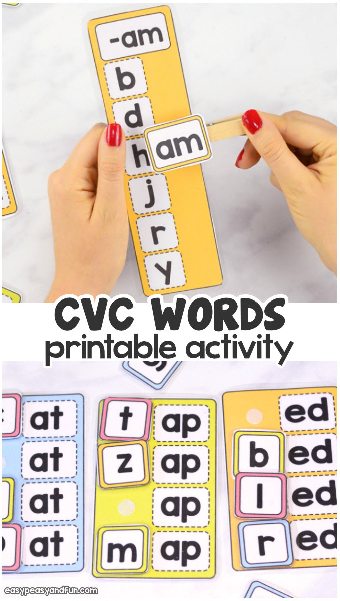 Free Printable Word Ladders Cvc Words Activity Easy Peasy and Fun