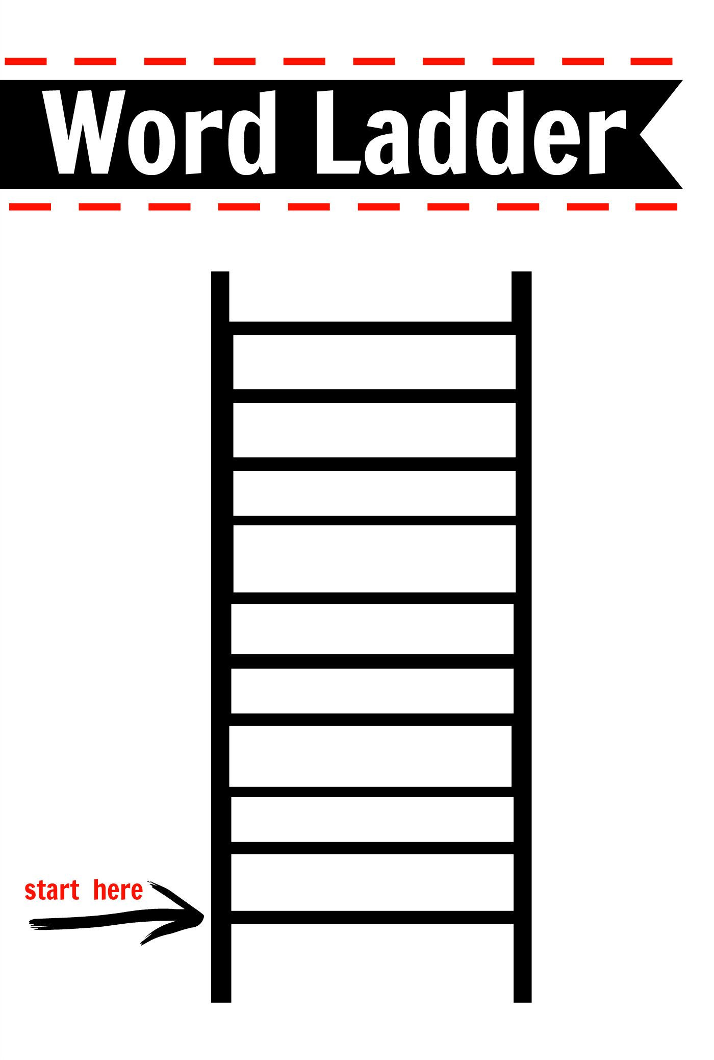 Free Printable Word Ladders Pin On 2nd Grade