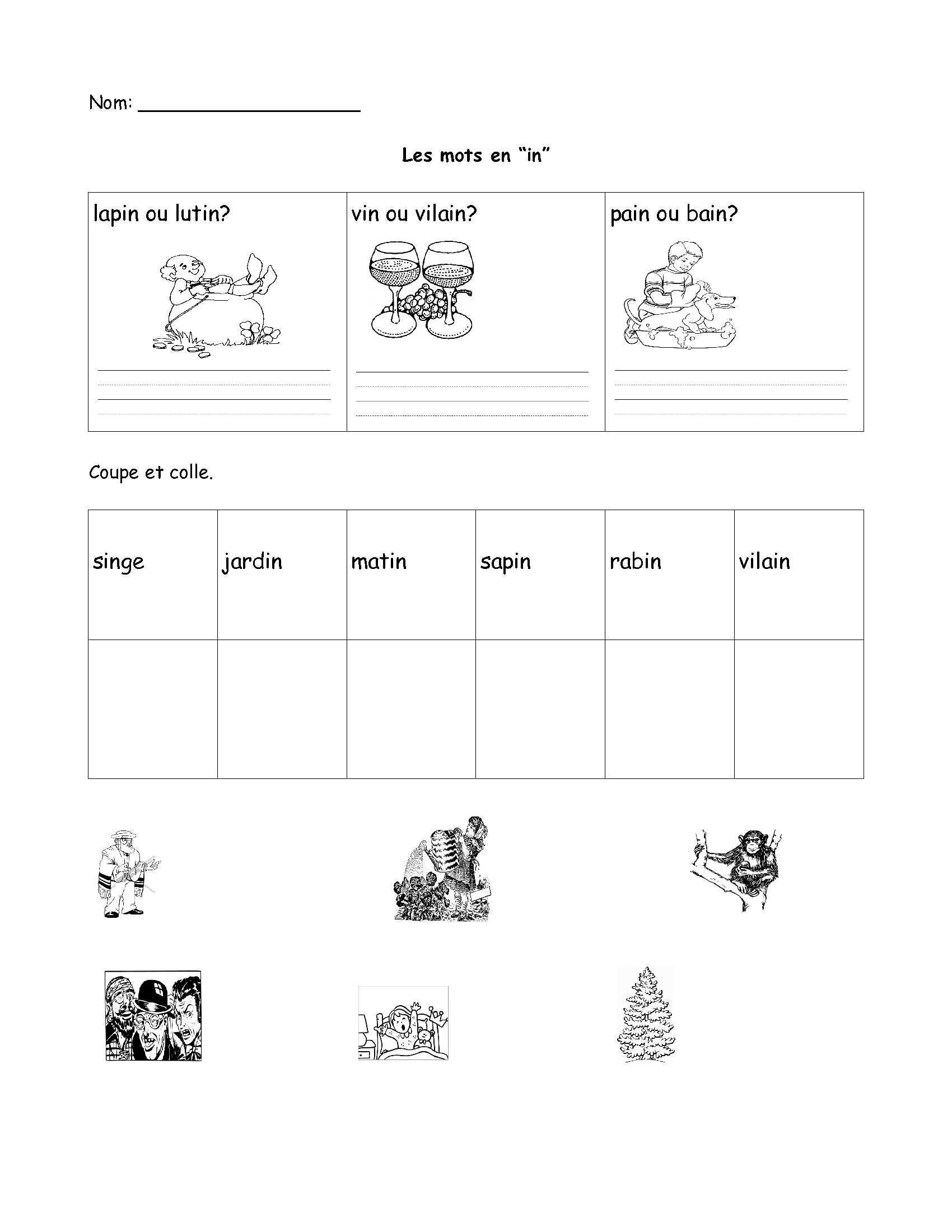 French Printable Worksheets Free French Worksheet Grade Fsl Core Immersion Math