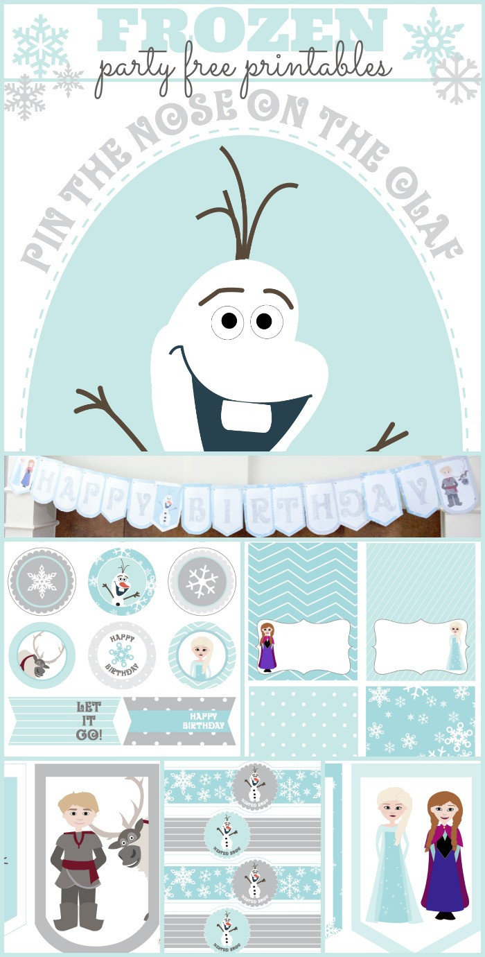 Frozen Cake toppers Printable Coloring Free Frozen Printables Party with Pin the Nose