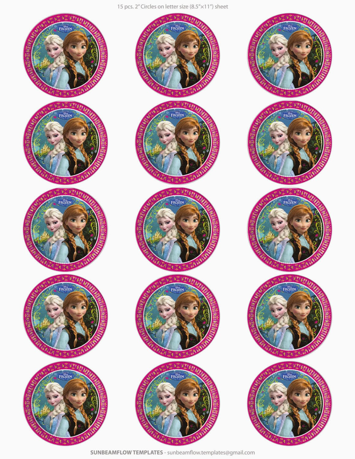 Frozen Cake toppers Printable Frozen Free Printable toppers Oh My Fiesta In English