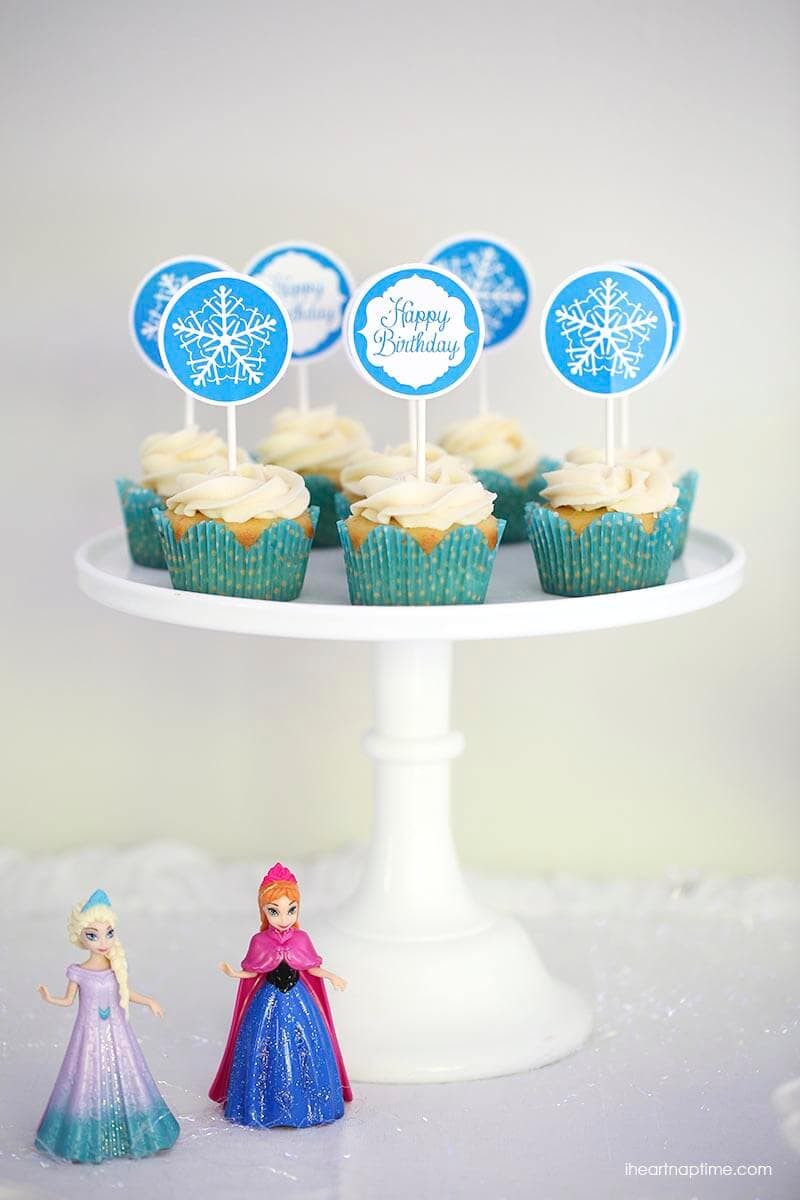 Frozen Cake toppers Printable Frozen Party Ideas with Free Printables