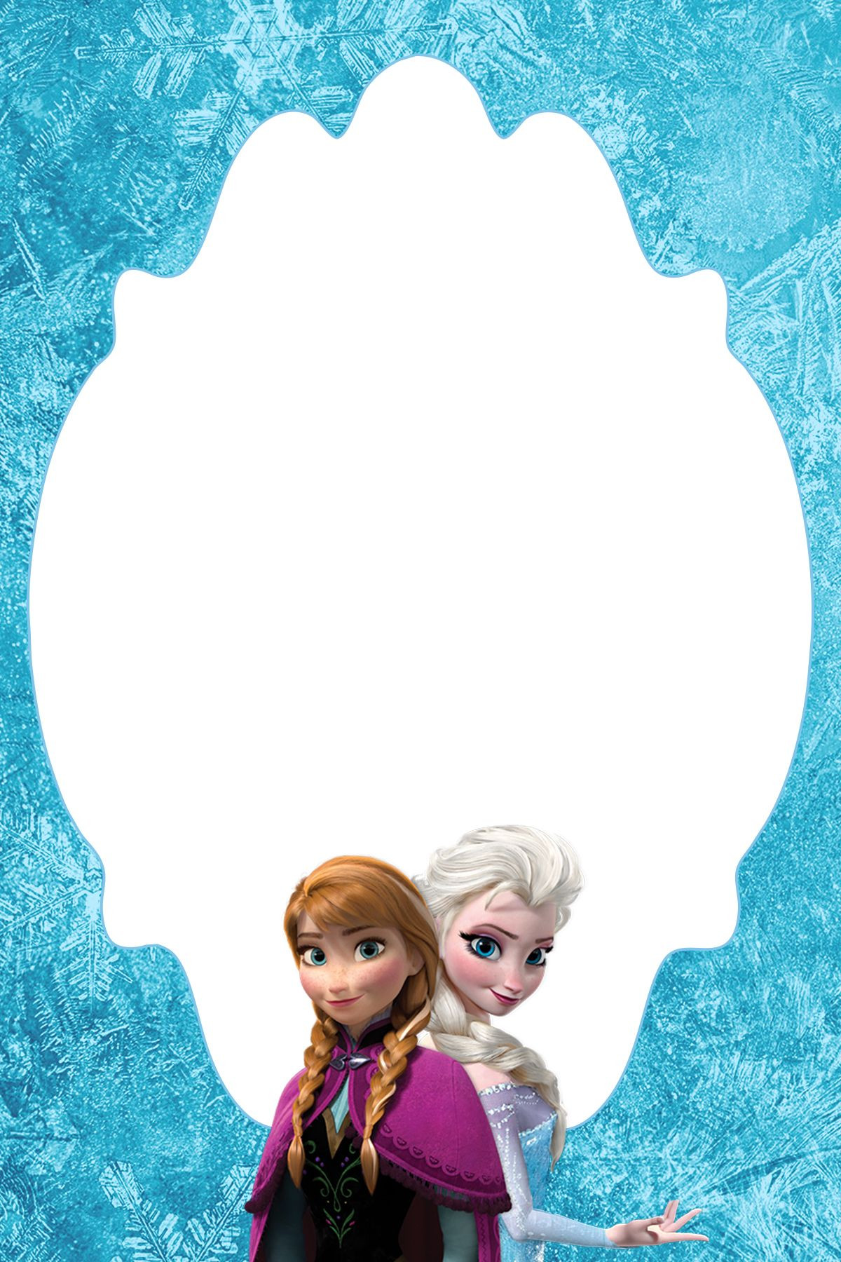Frozen Invitations Printable Free 4—6 Free Frozen Blank Thank You Card or Treat Bag topper