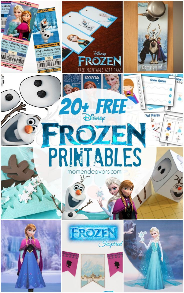 Frozen Invite Printable Birthday Decoration 20 Free Disney Frozen Printables