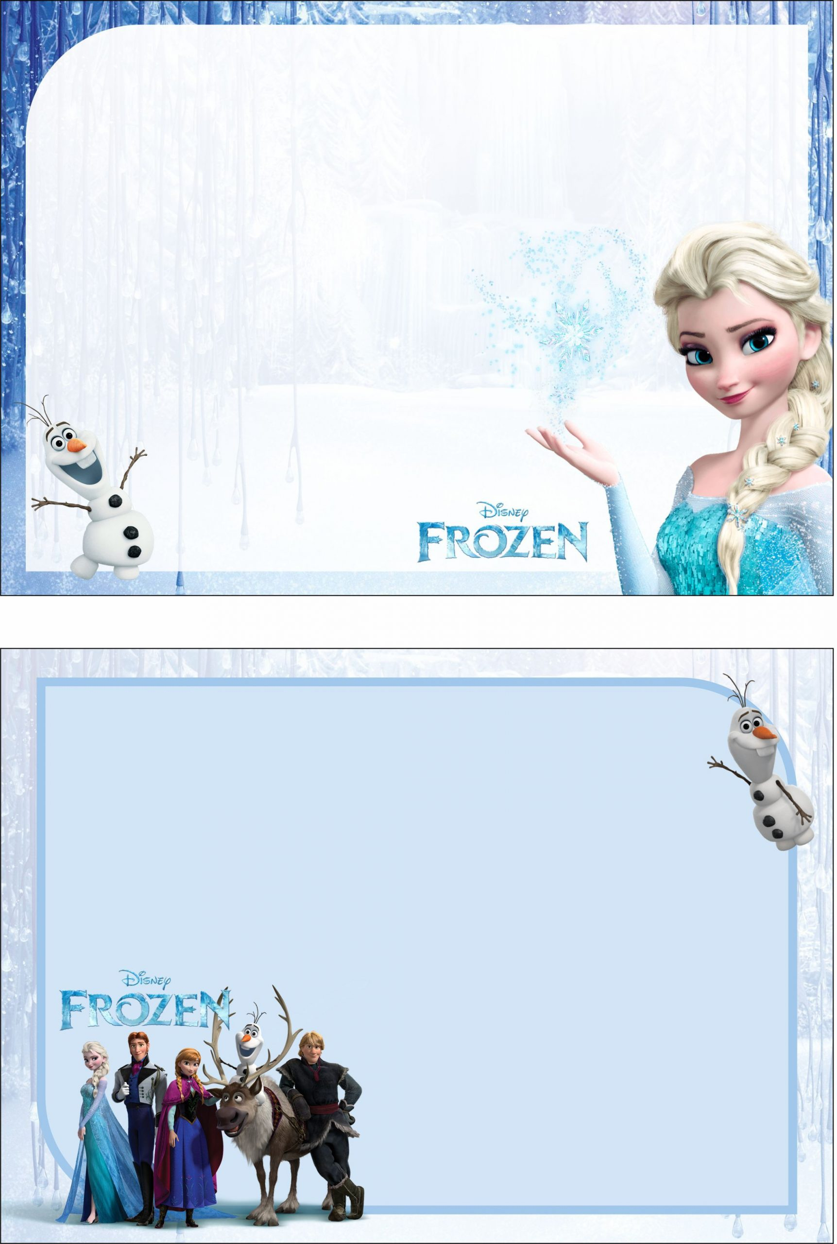 Frozen Printable Birthday Invitations Free Frozen 2 Birthday Party Kit Templates In 2020