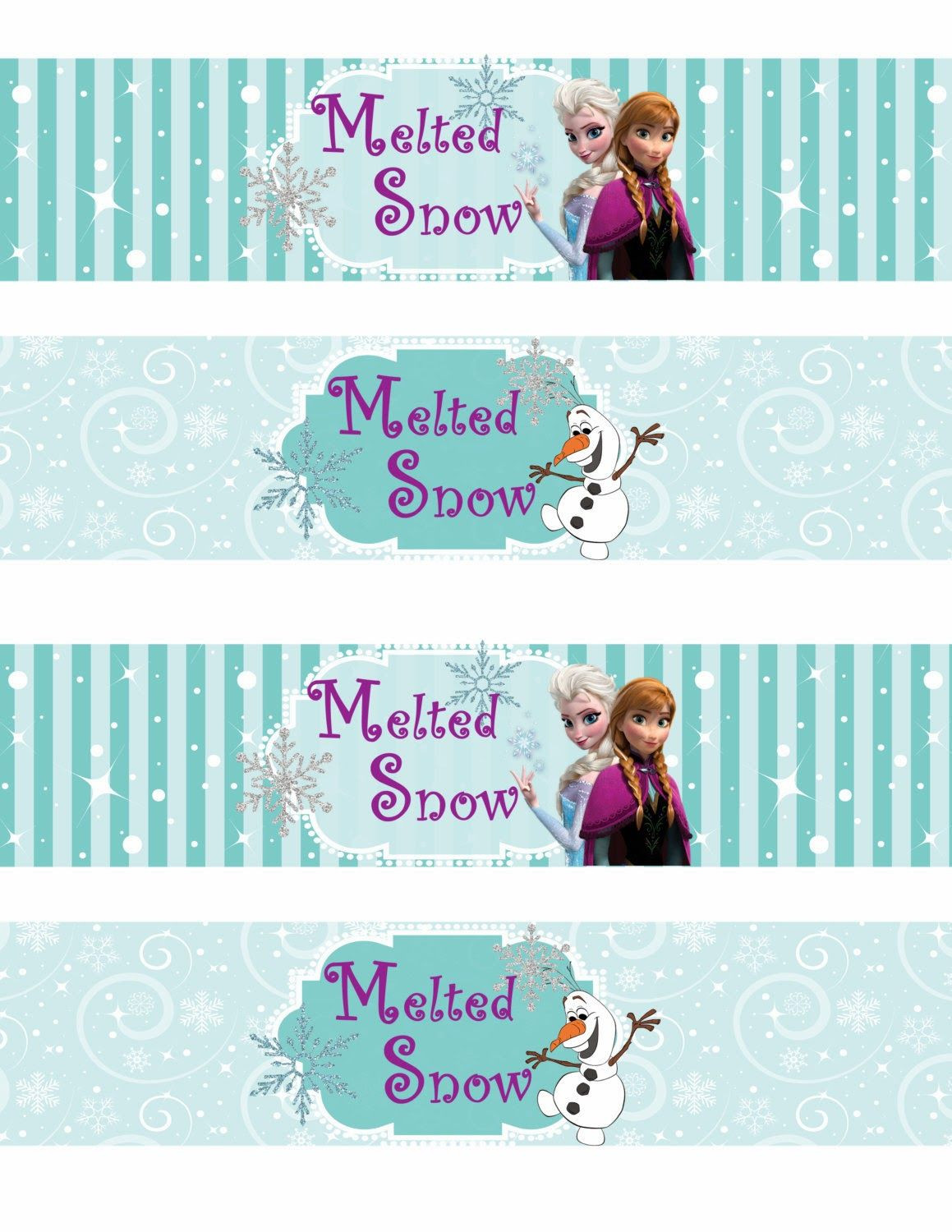 Frozen Printable Birthday Invitations Free Printable Frozen Labels