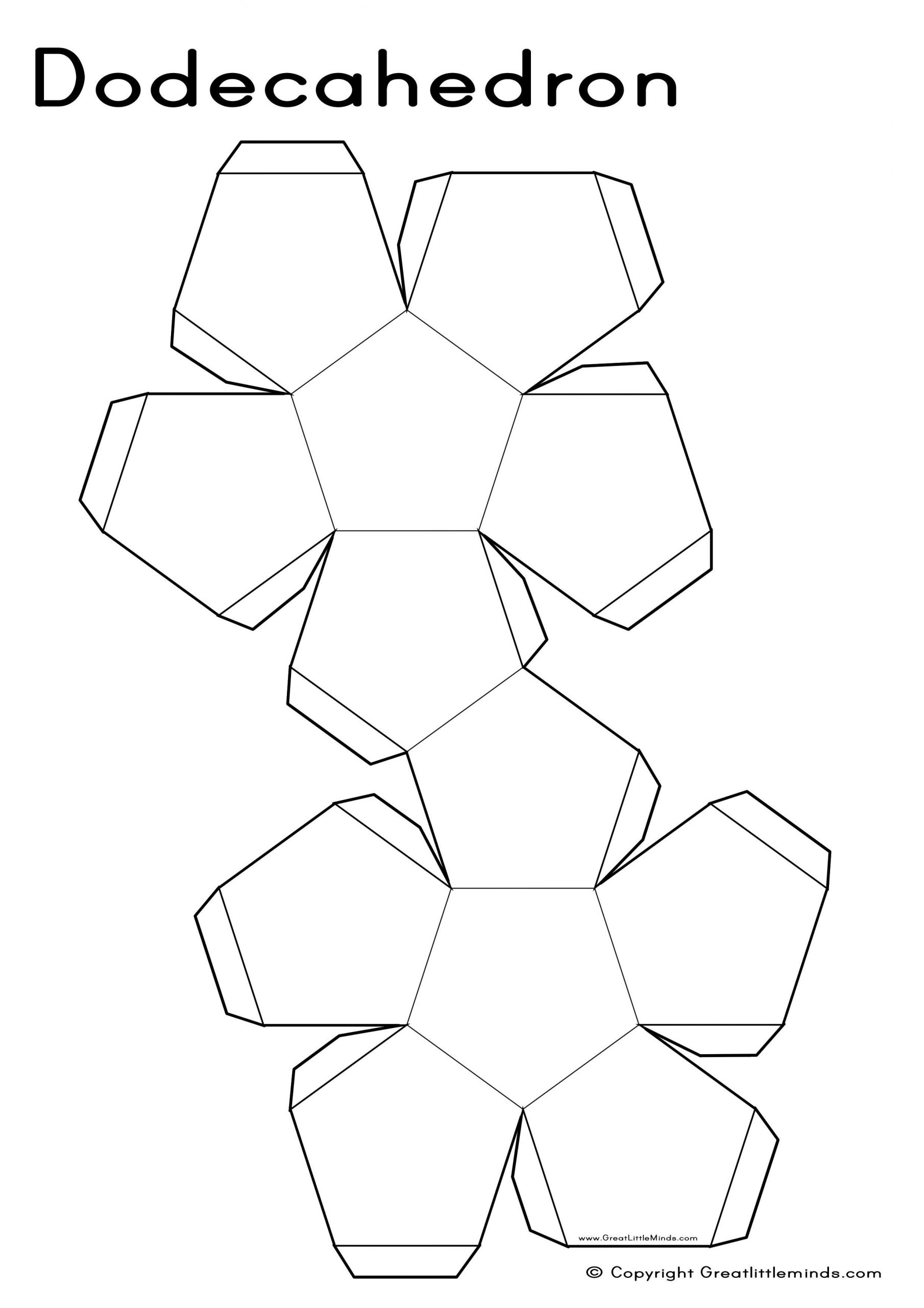 Geometry Template Printable 3d Nets Dodecahedron A4 2480—3508