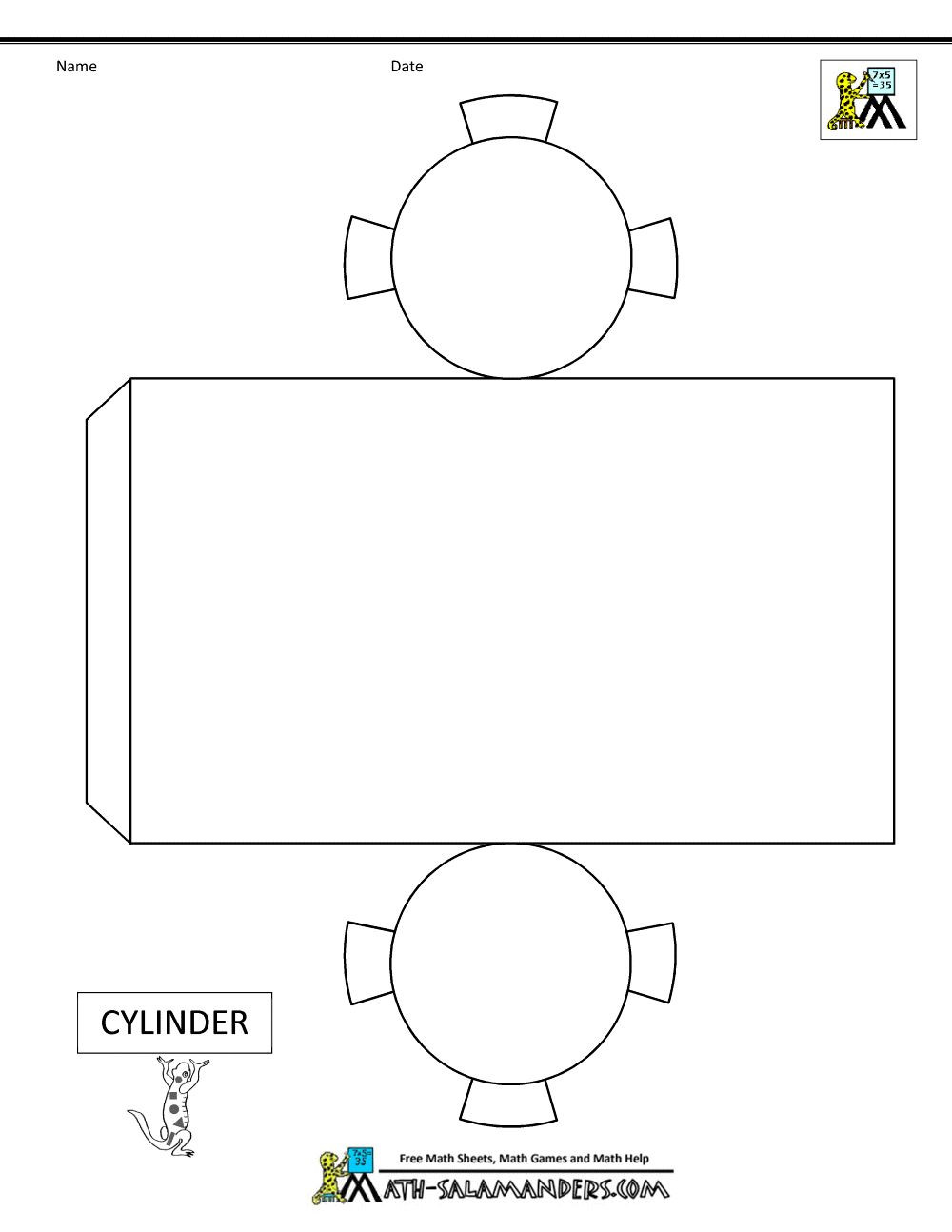 Geometry Template Printable Cylinder Box