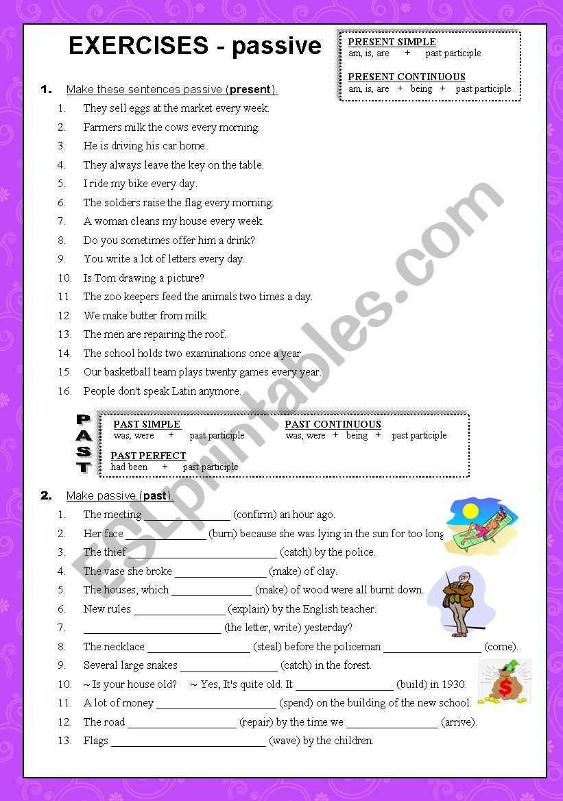 Grammar Worksheets High School 2 Pages Of Exercises with Present Simple Continuous and