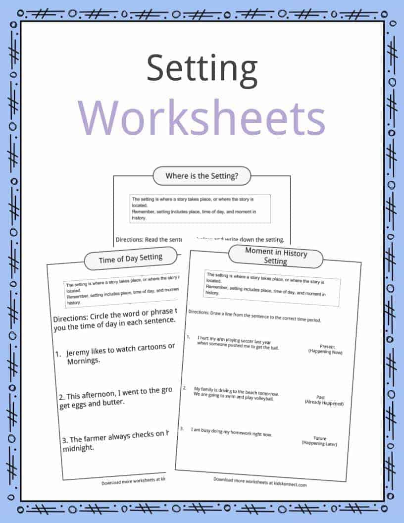 History Worksheets for 2nd Grade Story Setting Examples Definition & Worksheets for Kids