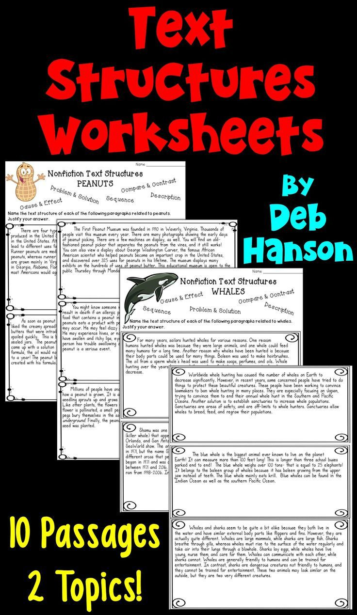 Informational Text Worksheets Middle School Informational Text Structures Two Worksheets