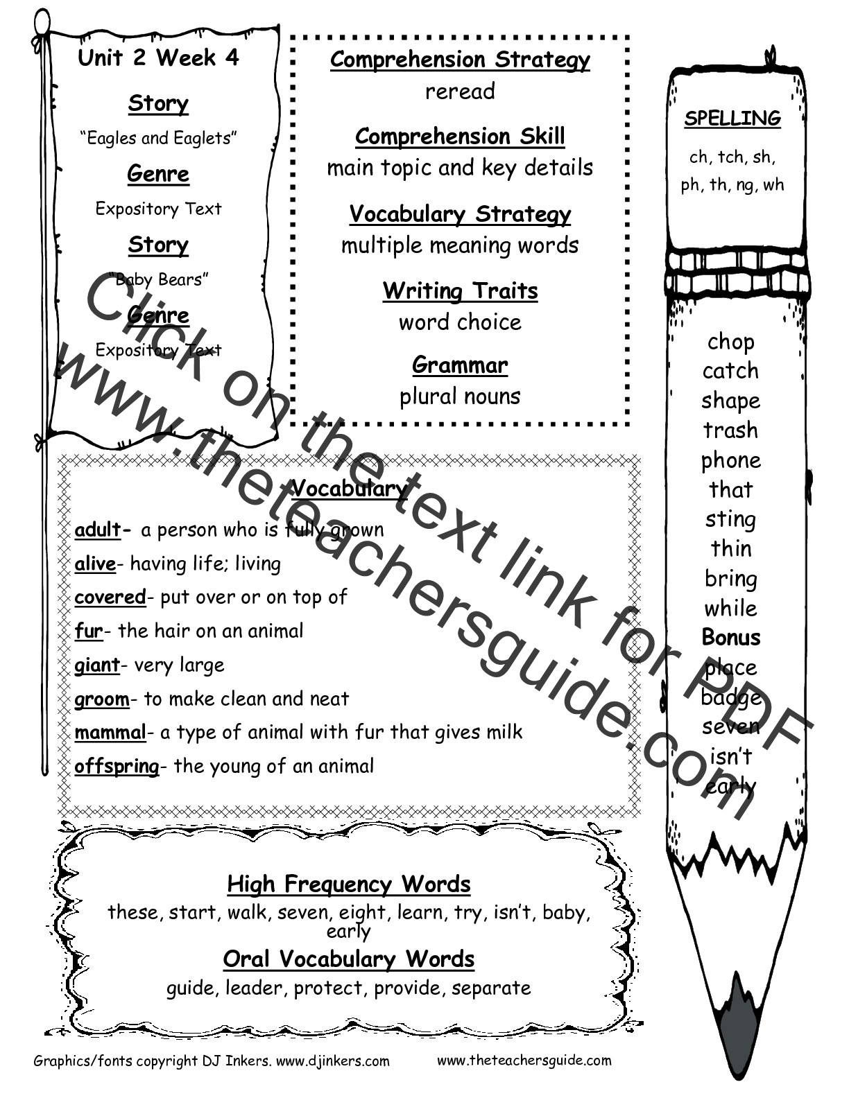 Irregularly Spelled Words 2nd Grade Wonders Second Grade Unit Two Week Four Printouts