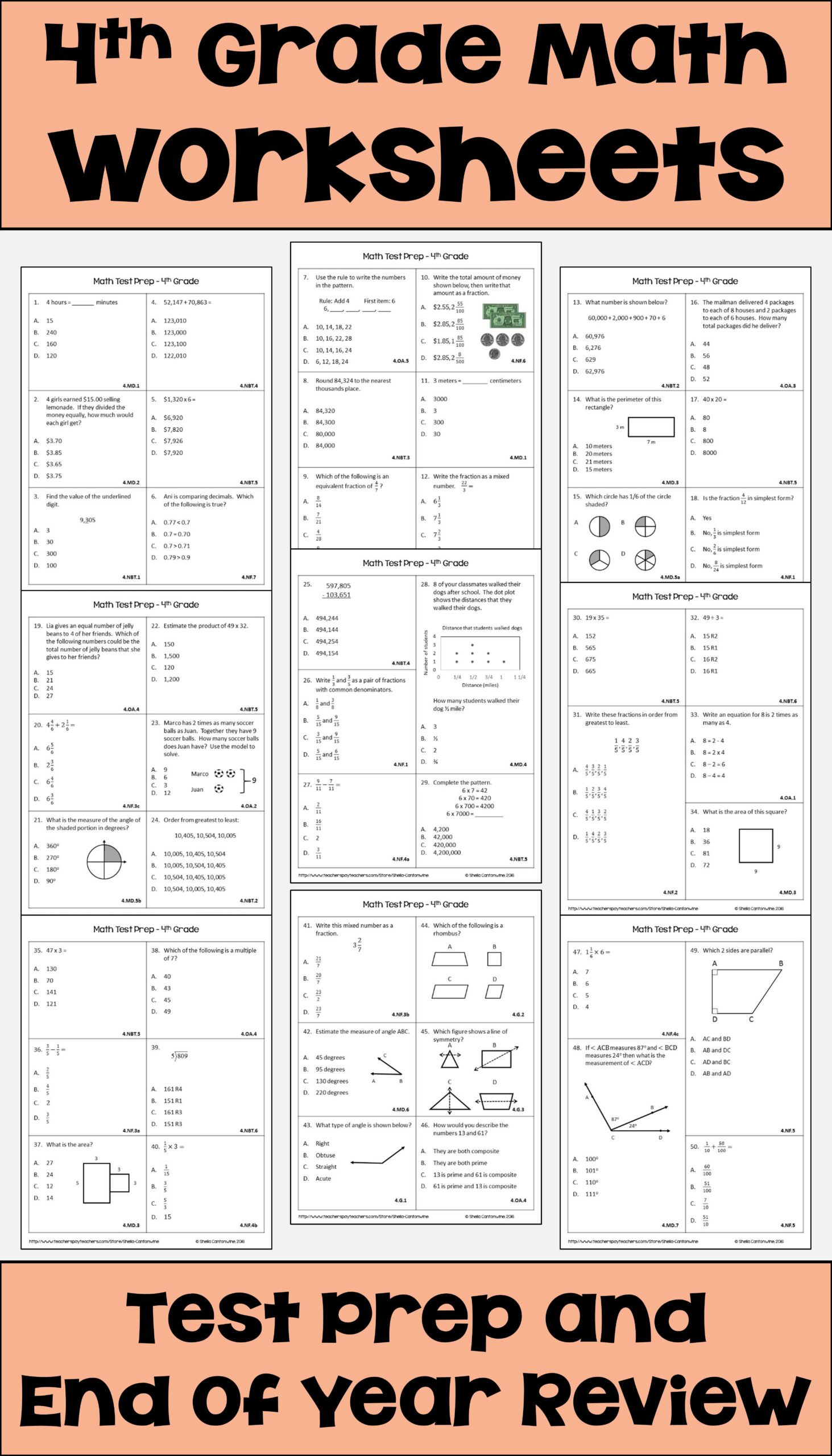 Kitchen Math Worksheets Pin Differentiated Math 4th Grade Prep Worksheets Good