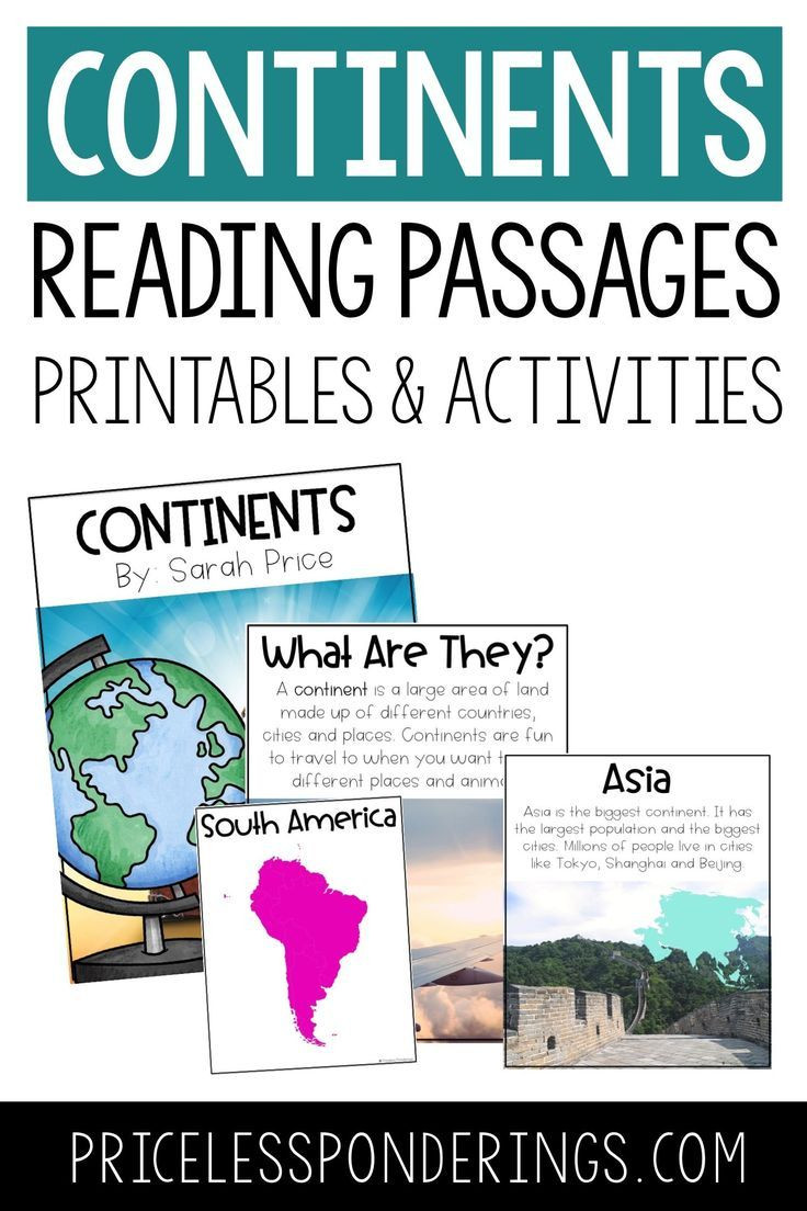 Label Continents and Oceans Printable Continents and Oceans Activities