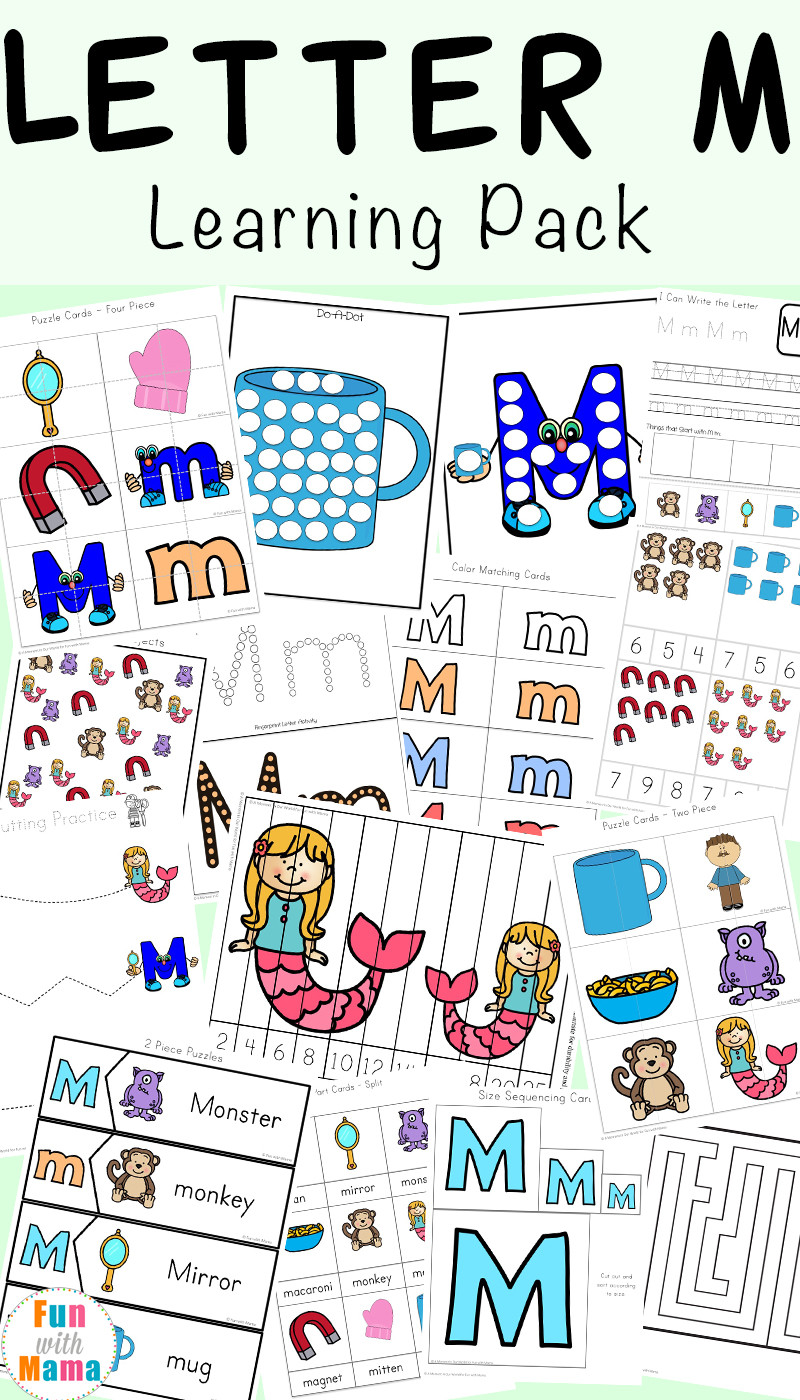 Letter M Worksheets Preschool Letter M Worksheets Fun with Mama