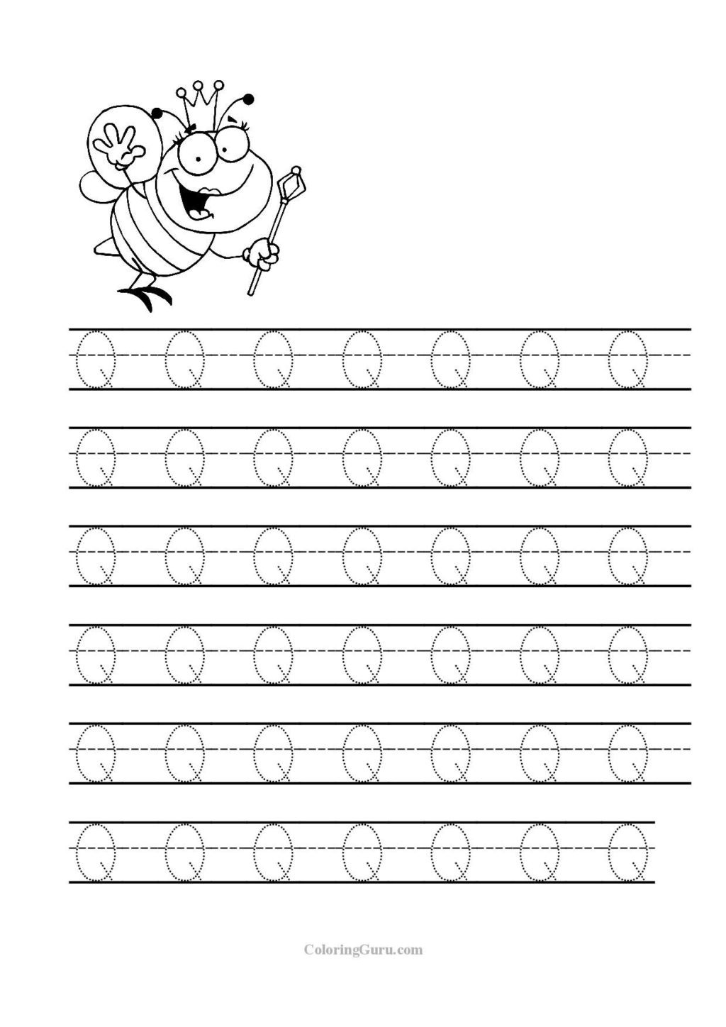 Letter O Worksheets for Preschool Worksheet Tracing Letter Q Worksheets for Preschool Jpg