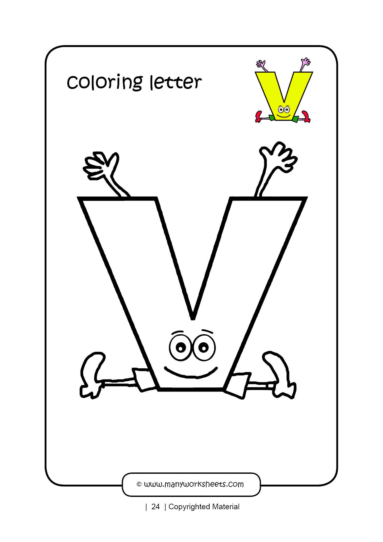 Letter V Worksheets Preschool Letter V Coloring Page