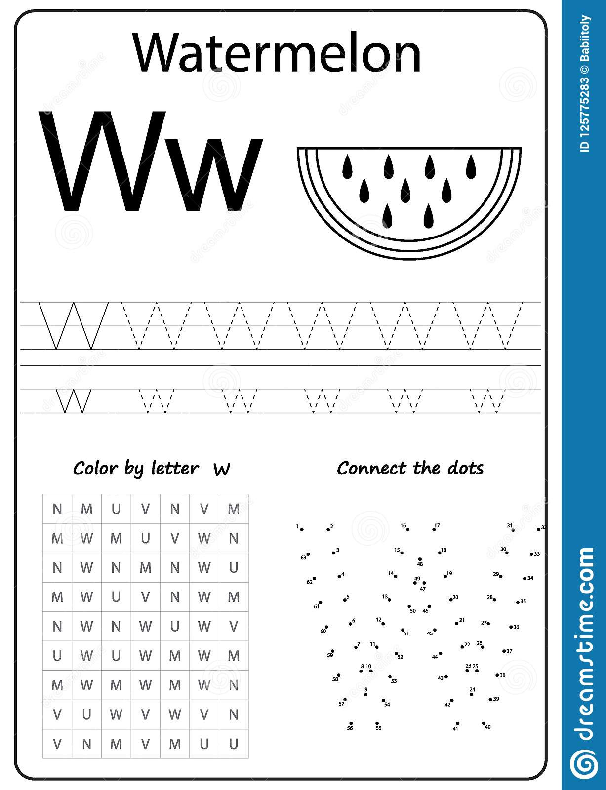Letter W Worksheets for Preschoolers Writing Letter W Worksheet Writing A Z Alphabet