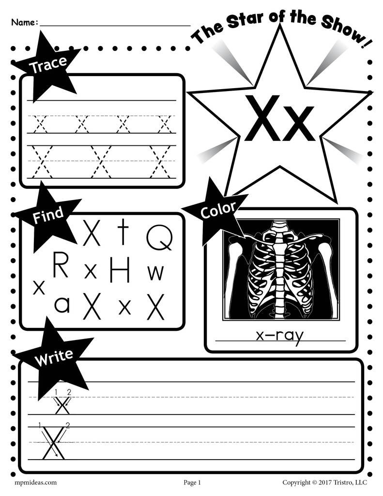 Letter X Worksheets for Preschoolers Letter X Worksheet Tracing Coloring Writing & More
