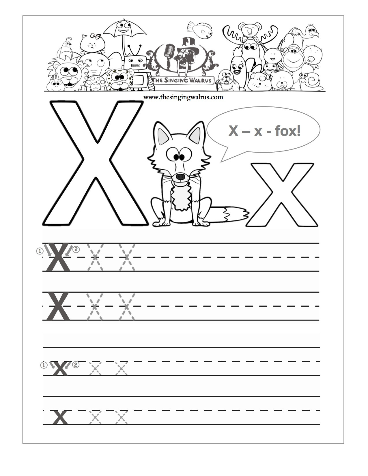 Letter X Worksheets for Preschoolers Preschool Reading Writing Worksheets Trace and Write the