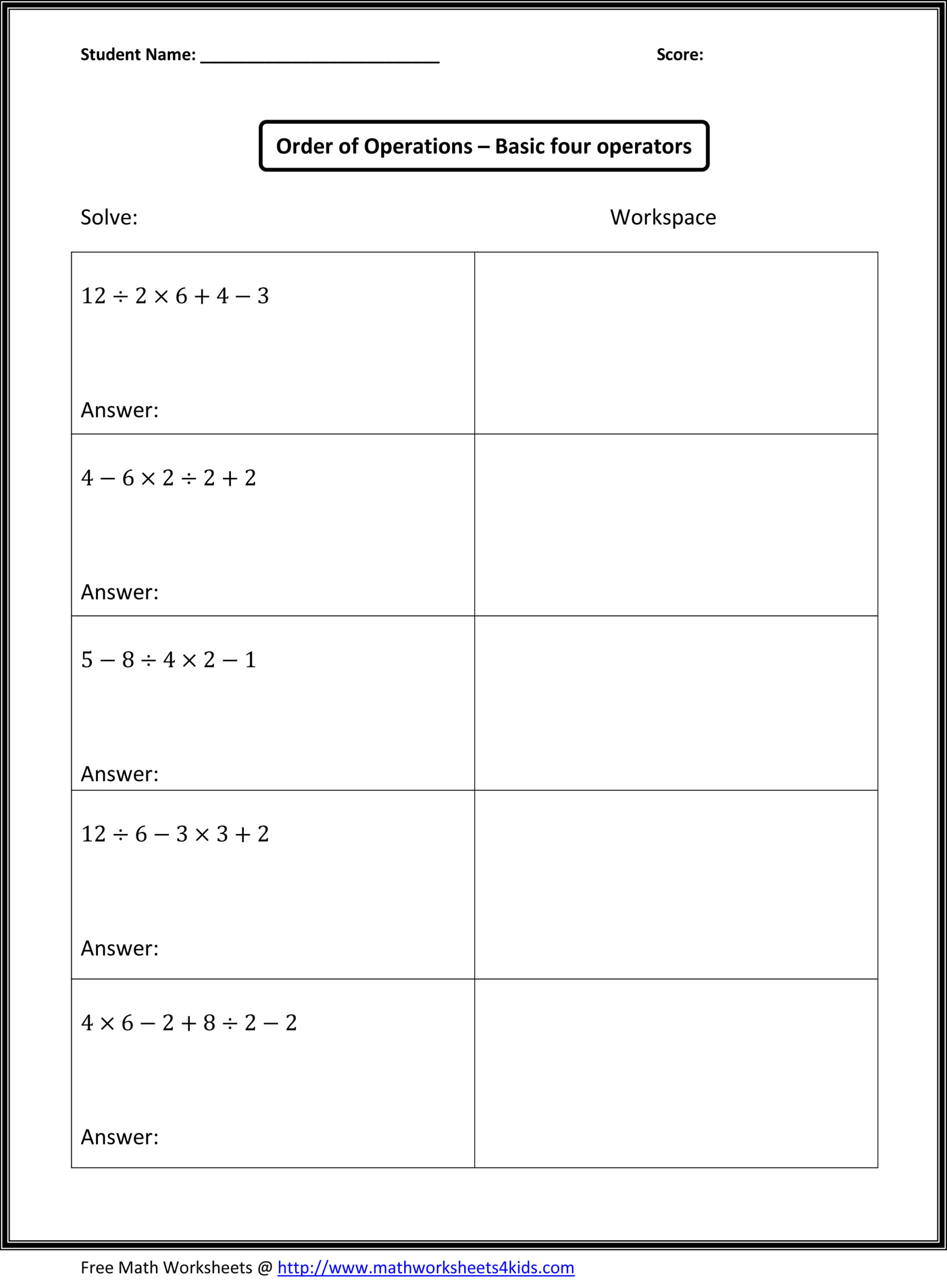 Line Graph Worksheets 5th Grade Copy order Operations 5th Grade Lessons Tes Teach Free