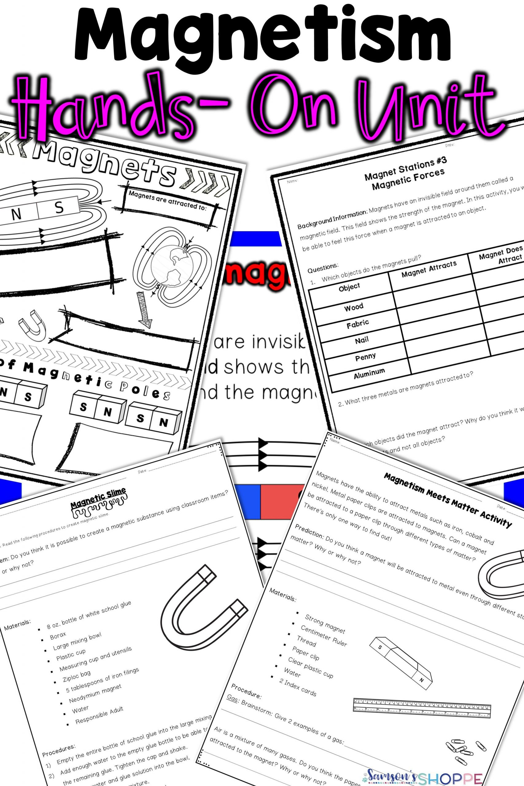 Magnetism Worksheet for High School Magnetism
