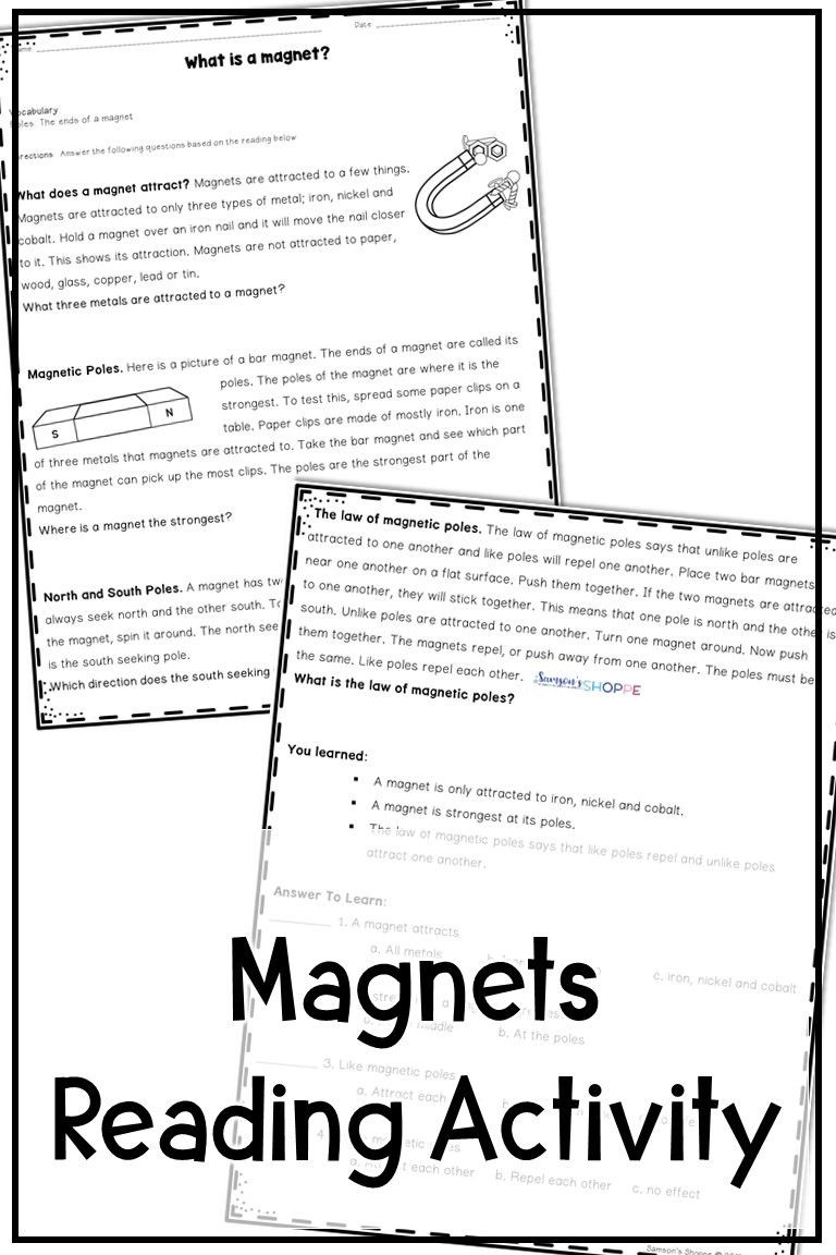 Magnetism Worksheet for High School Magnetism Reading Activity