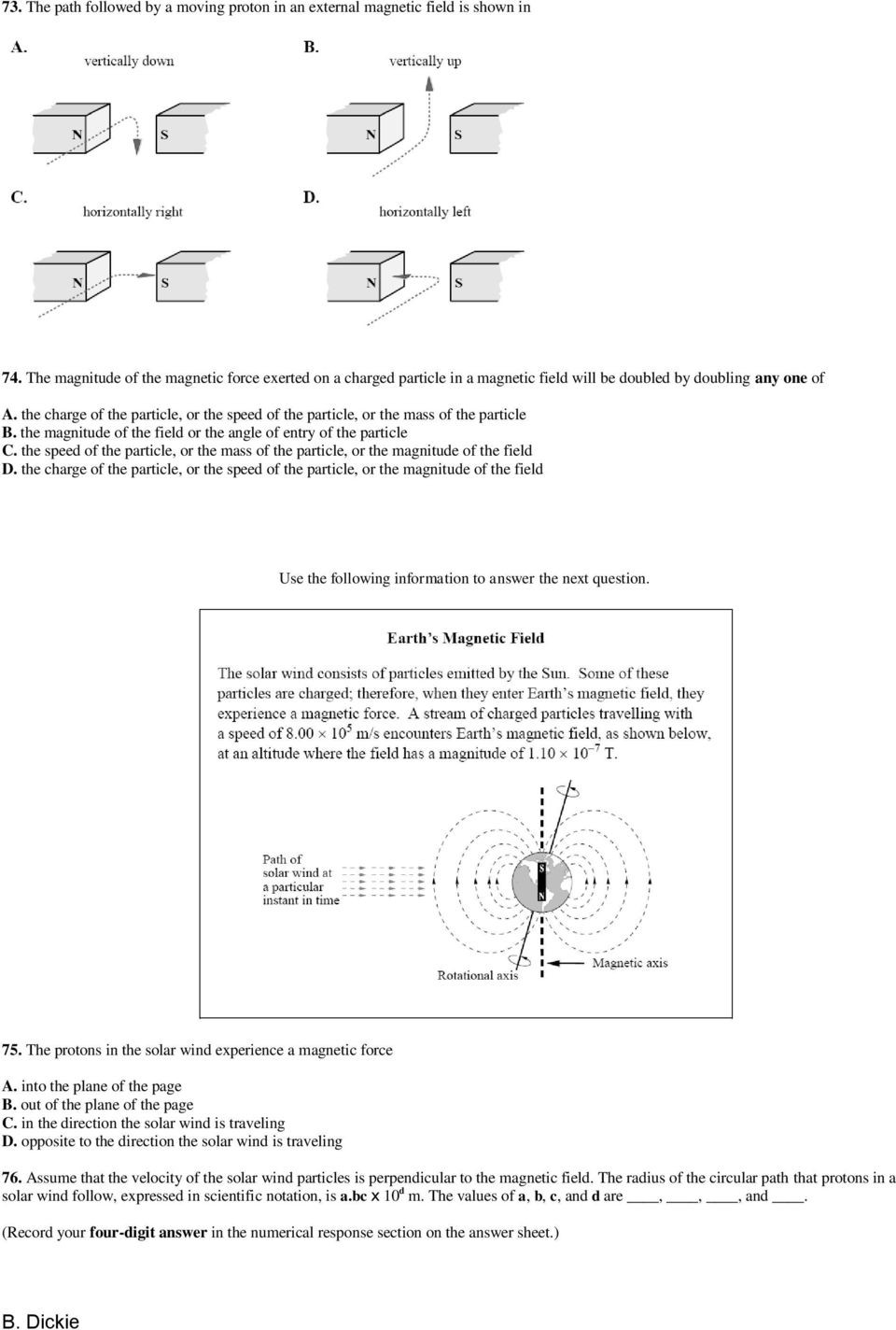 Magnetism Worksheet for High School Physics 30 Worksheet 10 Magnetism From Electricity Pdf