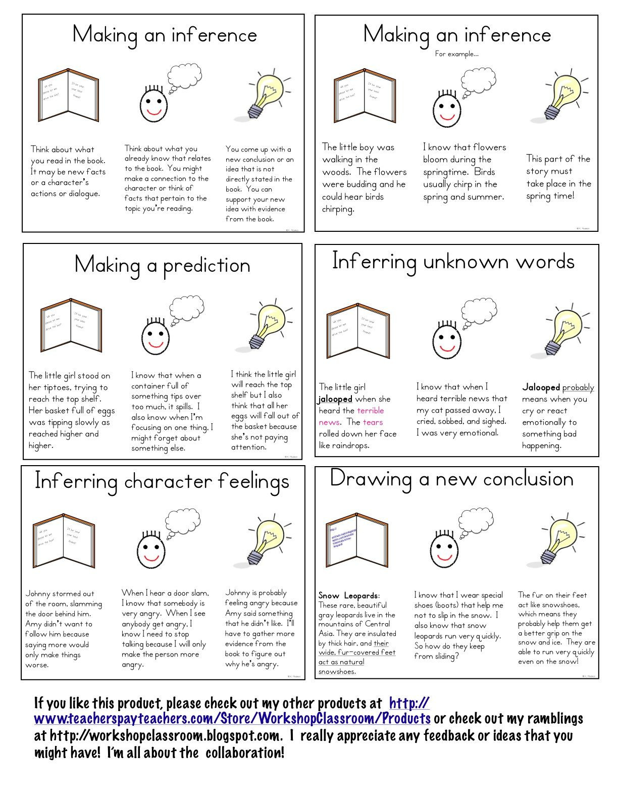 Making Inferences Worksheets 4th Grade Making Inferences Mini Lessons