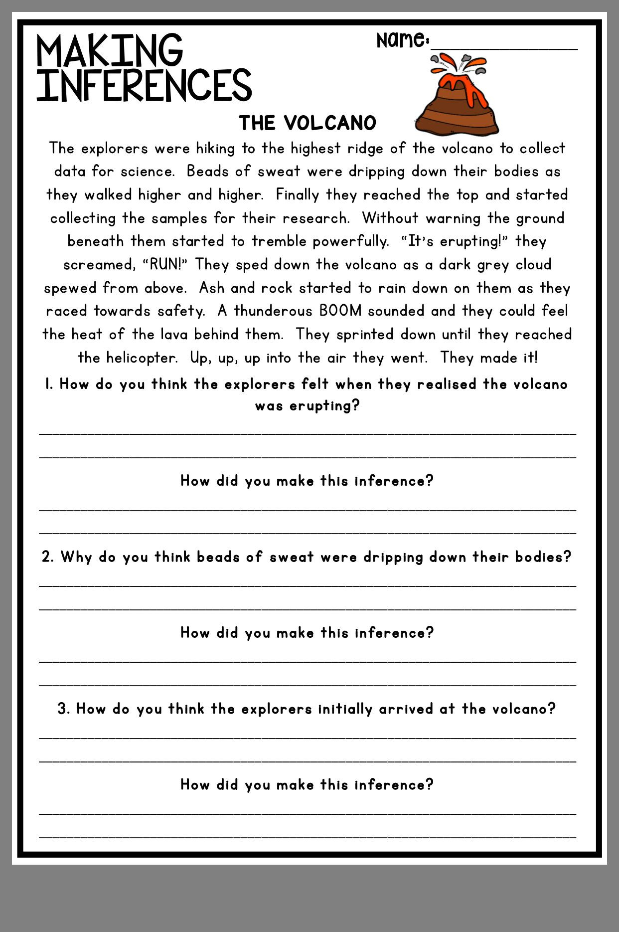 Making Inferences Worksheets 4th Grade Pin by Audrey C On A Teacher S Best Ideas