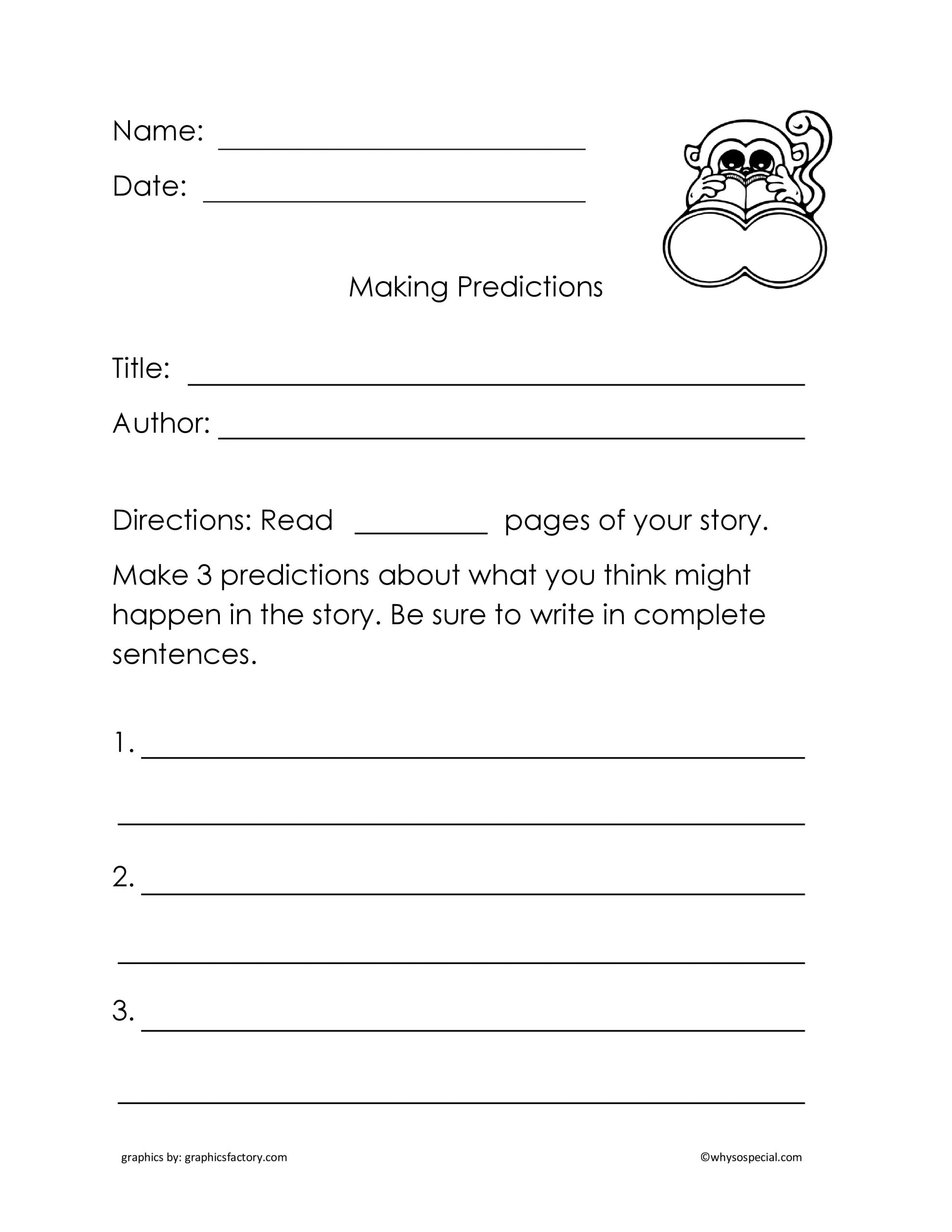 Making Predictions Worksheets 3rd Grade Making Predictions Weather Worksheet