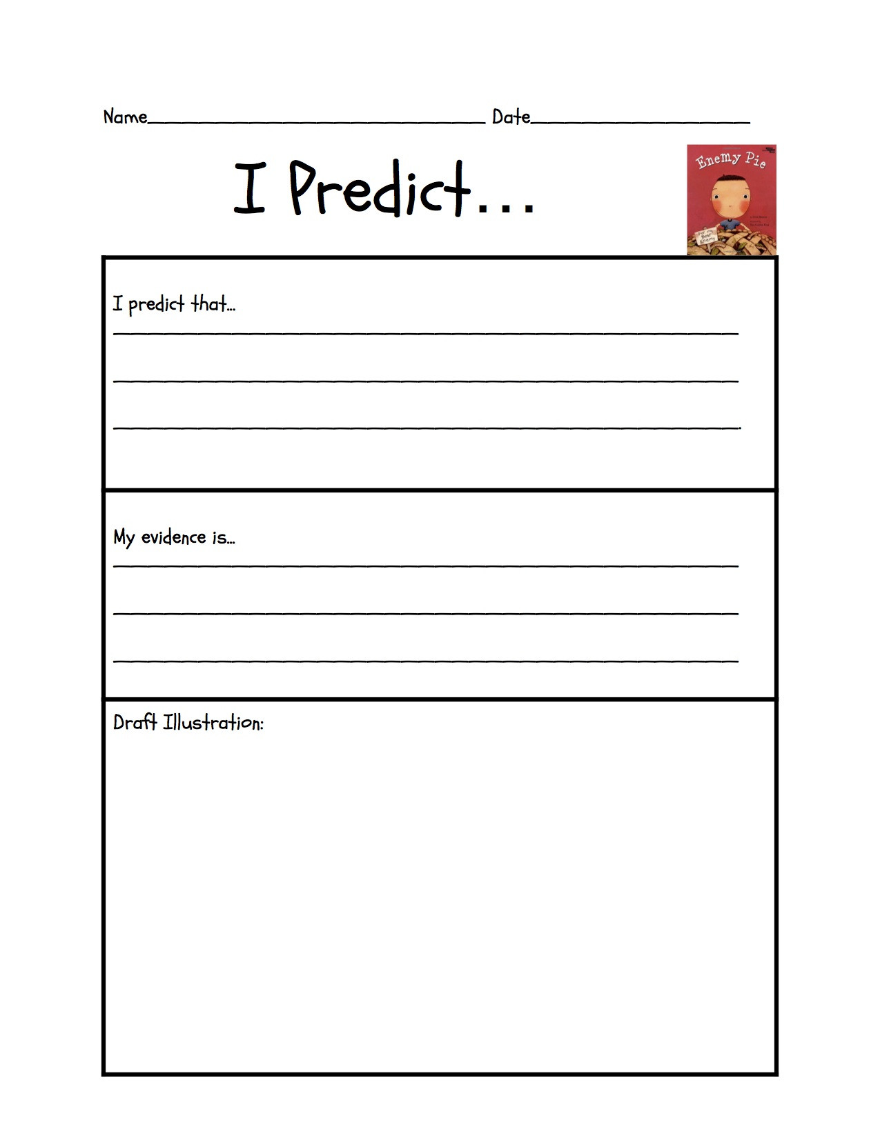 Making Predictions Worksheets 3rd Grade Story Predictions Worksheets