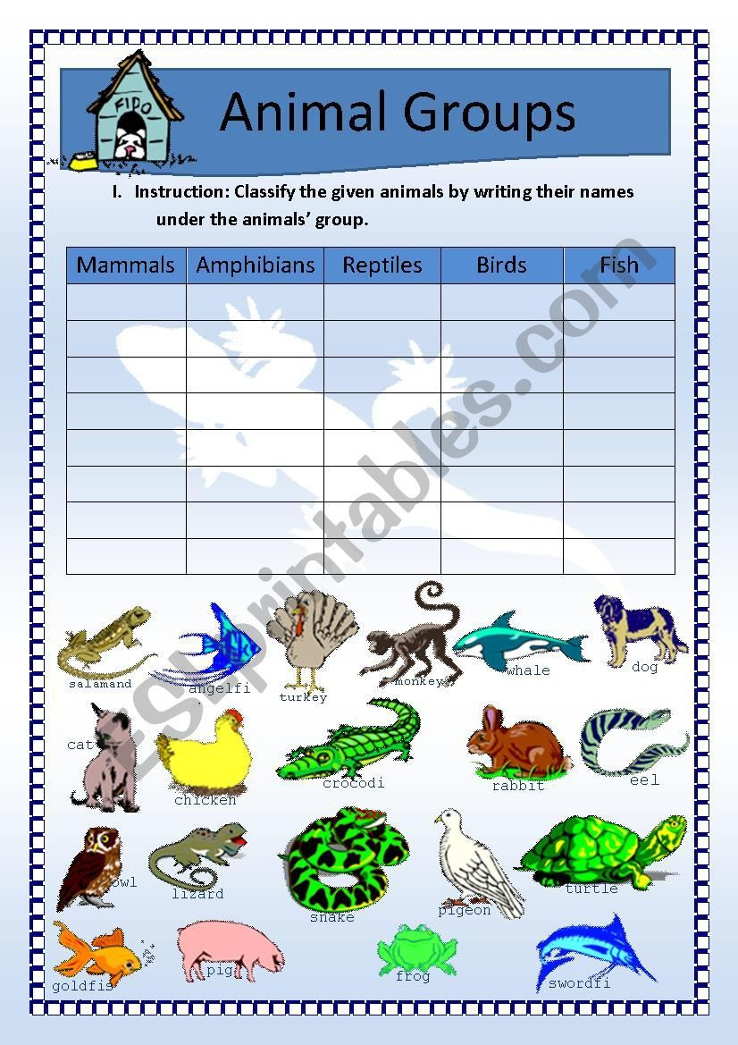 Mammal Worksheets First Grade A Very Simple Worksheet About Animals I Made for Young